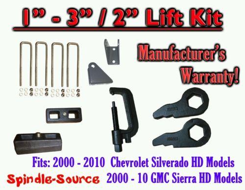 """00 - 10 CHEVY GMC 2500 3500 HD Silverado Sierra 3"""" Keys + 2"""" Blocks + Ext + TOOL"""