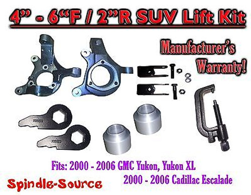 """00-06 Chevy Suburban Tahoe Avalanche 1500 4-6"""" Lift Kit Spindle Torsion Ext TOOL"""