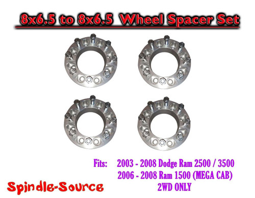 """03-08 Dodge Ram 2500 3500 8 x 6.5 to 8x6.5 FOUR Wheel Spacers 2"""" and 3-3/8"""""""