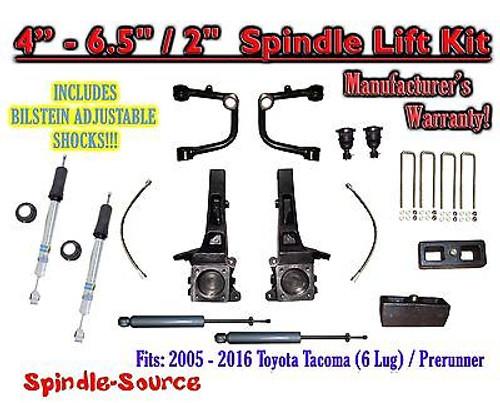 """05 - 16 Toyota Tacoma Prerunner 6.5"""" / 2"""" LIFT Kit, Bilstein 5100 Shocks, rs UCA"""