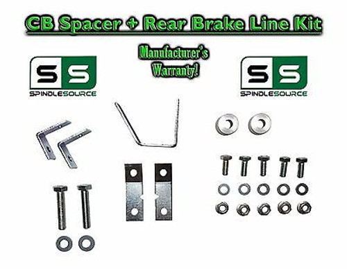 "05 - 17 Toyota Tacoma Carrier Bearing Spacer + REAR Brake Line Kit for 3""+ LIFT"