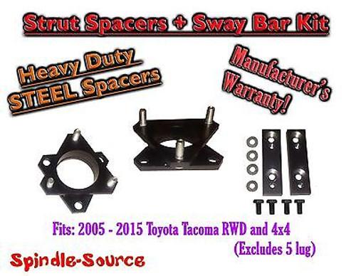 """05 - 2015 Toyota Tacoma 07+ FJ Cruiser 2.5"""" Strut Leveling Spacer + Sway Bar Kit"""