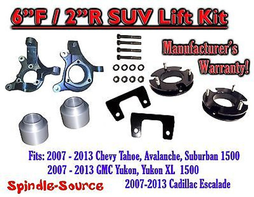 "07 - 13 GMC Yukon / XL 1500 Cadillac Escalade 6"" / 2"" Lift Kit Spindle + Spacer"