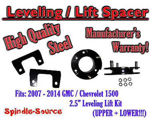 """07 - 14 Chevy GMC Trucks and SUVs 2.5"""" Lifting Leveling Strut Spacer STEEL!"""
