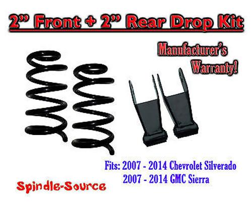 "07 - 2014 Chevrolet Silverado / GMC Sierra 1500 V8 2"" / 2"" Drop Lowering kit"