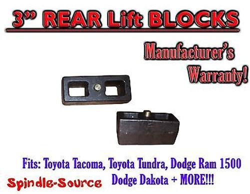 "1 Set of Cast 3"" TAPERED Lift Blocks Toyota Tacoma Tundra Dodge RAM Dakota"