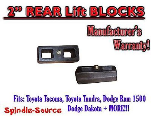 "1 Set of Cast 2"" TAPERED Lift Blocks Toyota Tacoma Tundra Dodge RAM Dakota"