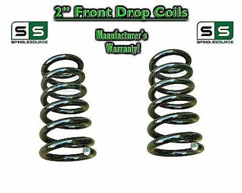 "1965-1987 Chevrolet GMC C10 C15 2"" Lowering Drop Coils Springs 65-87 73-87 65-72"