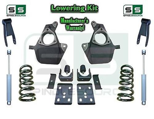 16-18 Silverado Sierra 5/8 Lowering DROP KIT STAMPED / ALUM ARMS Coils V8 SHOCKS