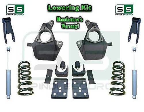 16-18 Silverado Sierra 5/8 Lowering DROP KIT STAMPED / ALUM ARMS Coils V6 SHOCKS