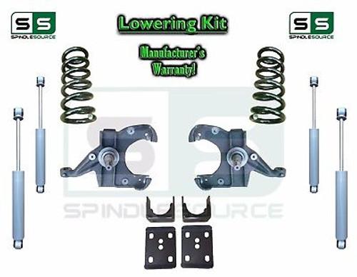"1973 - 87 Chevrolet GMC C10 C15 5"" / 6"" Lowering Drop Kit 1.25"" Rotors + SHOCKS"