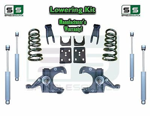 "1973 - 87 Chevy GMC C10 C15 5"" / 7"" - 8"" Lowering Drop Kit 1.0"" Rotors + SHOCKS"