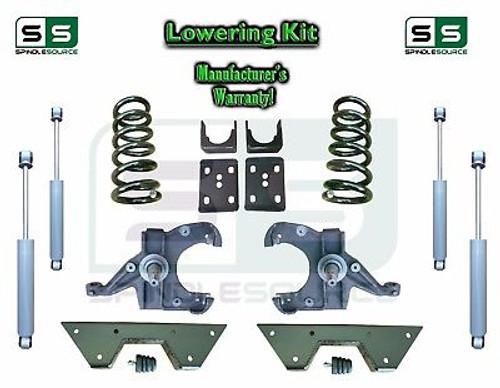 "1973 - 87 Chevy GMC C10 C15 5"" / 6"" Lowering Drop Kit 1.25"" Rotors SHOCKS NOTCH"