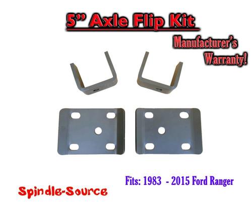 """1983 - 2015 Ford Ranger 5"""" Inch Lowering Drop REAR AXLE FLIP KIT 83-15"""