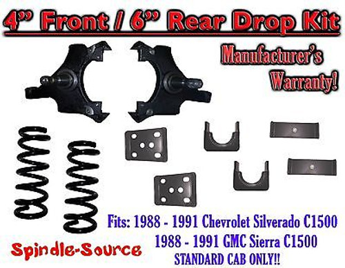 """1988 - 1991 Chevrolet GMC C1500 4"""" / 6"""" Drop Lowering Kit 4/6 STANDARD CAB ONLY"""