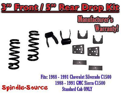 """1988 - 1991 Chevrolet GMC C1500 3"""" / 5"""" Drop Lowering Kit 3/5 STANDARD CAB ONLY"""