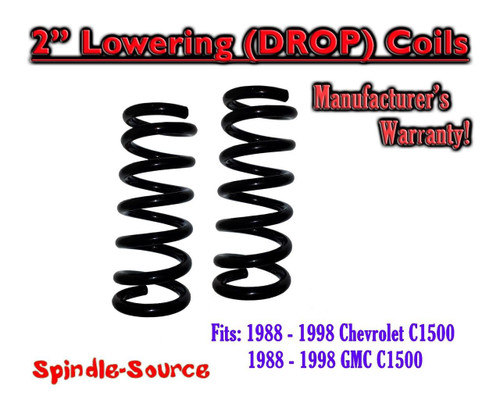 """1988 - 1998 Chevrolet GMC 1500 2"""" FRONT Lowering Drop Coils Springs Kit 88-98"""