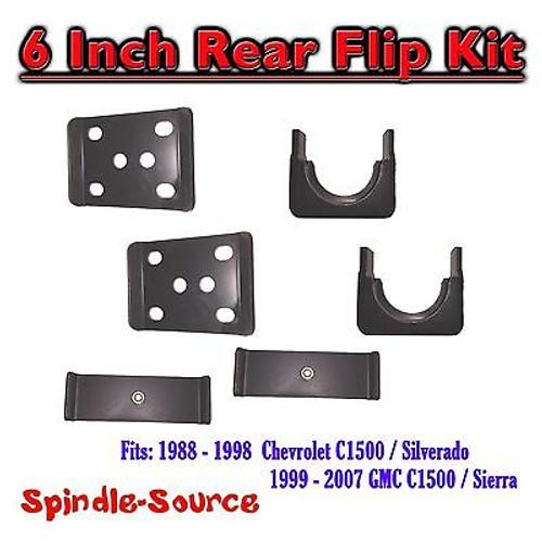 "1988 - 1998 Chevrolet Chevy GMC C1500 6 Inch Flip Kit 6"" Rear Drop 88 - 98 1500"