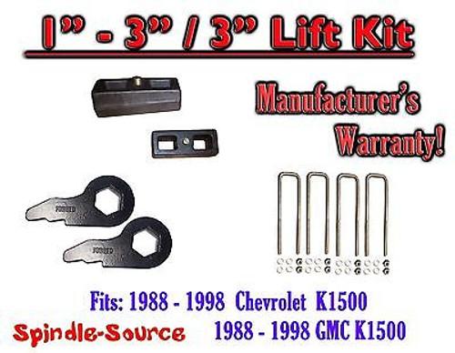 "1988 - 1998 Chevrolet GMC K1500 Torsion Level 3"" FORGED KEYS + 3"" REAR Blocks"