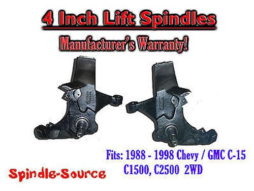 "1988 -1998 Chevy / GMC C15 C1500 C2500 2WD 4"" Lift Lifting Spindles Trucks SUVs"