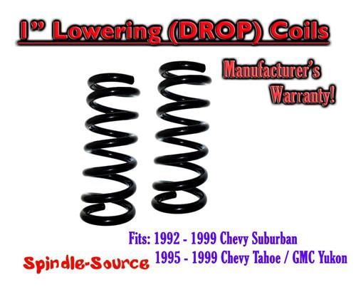 """1992 - 1999 Suburban Yukon Tahoe 1"""" FRONT Lowering Drop Coils Springs Kit"""