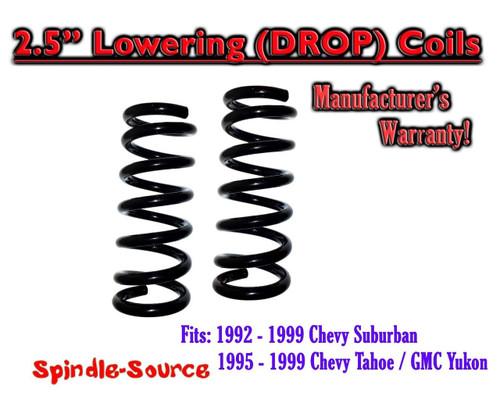 """1992 - 1999 Suburban Yukon Tahoe 2.5"""" FRONT Lowering Drop Coils Springs Kit"""