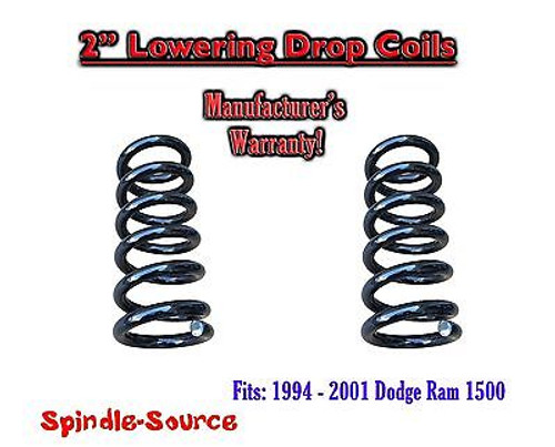 "1994 - 2001 Dodge Ram 1500 V6 EXT Cab 2"" Lowering Drop Coils Springs Kit"