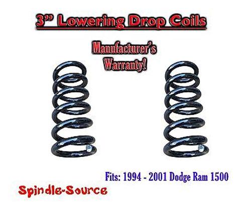"1994 - 2001 Dodge Ram 1500 V6 EXT Cab 3"" Lowering Drop Coils Springs Kit"