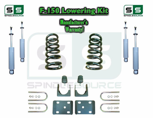 """1997 - 03 Ford F-150 F150 V6 EXT Cab 2WD 3"""" / 6"""" Drop Lowering Kit Coils SHOCKS"""