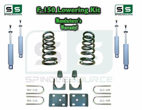 "1997 - 03 Ford F-150 F150 V6 Reg Cab 2WD 3"" / 6"" Drop Lowering Kit Coils SHOCKS"
