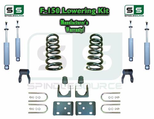 "1997 - 03 Ford F-150 F150 V8 Reg Cab 2WD 3"" / 5"" Drop Lowering Kit Coils SHOCKS"