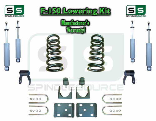 """1997 - 03 Ford F-150 F150 V8 EXT Cab 2WD 3"""" / 5"""" Drop Lowering Kit Coils SHOCKS"""