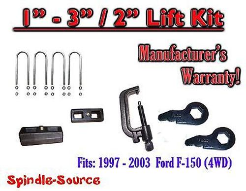 """1997 - 2003 Ford F-150 1"""" - 3"""" / 2"""" Torsion Keys Blocks Lift Level FORGED + TOOL"""