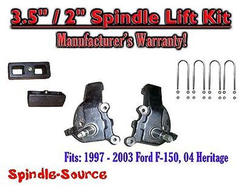 "1997 - 2003 Ford F-150 F150 2WD 3.5"" / 2"" inch Spindles blocks LIFT KIT"