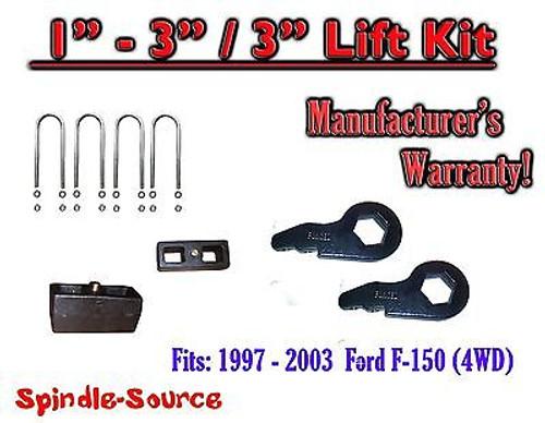 "1997 - 2003 Ford F-150 1"" - 3"" / 3"" Torsion Keys Blocks Lifting Leveling FORGED"