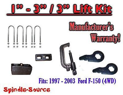"""1997 - 2003 Ford F-150 1"""" - 3"""" / 3"""" Torsion Keys Blocks Lift Level FORGED + TOOL"""