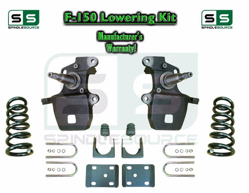 """1997 - 2003 Ford F-150 F150 V6 2WD 4"""" / 6"""" Drop Lowering Kit Coils Axle Flip 4/6"""