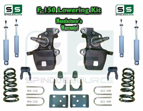 """1997 - 2003 Ford F-150 F150 V6 2WD 3"""" / 5"""" Drop Lowering Kit Coils Axle + SHOCKS"""