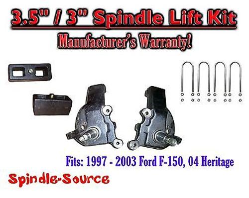 "1997 - 2003 Ford F-150 F150 2WD 3.5"" / 3"" inch Spindles blocks LIFT KIT"