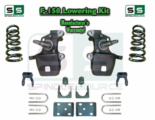 """1997 - 2003 Ford F-150 F150 V6 2WD 3"""" / 5"""" Drop Lowering Kit Coils Axle Flip"""