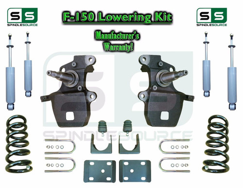 """1997 - 2003 Ford F-150 F150 V6 2WD 4"""" / 6"""" Drop Lowering Kit Coils Axle + SHOCKS"""