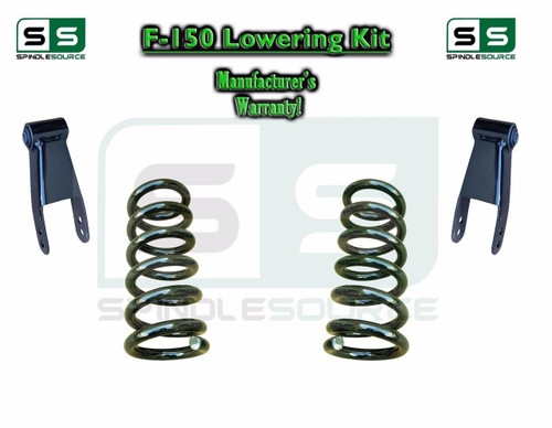"""1997 - 2003 Ford F-150 F150 V6 2WD 2"""" / 2"""" Drop Lowering Kit Coils Shackles"""