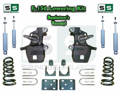 "1997 - 2003 Ford F-150 F150 V6 2WD 3"" / 6"" Drop Lowering Kit Coils Flip + SHOCKS"