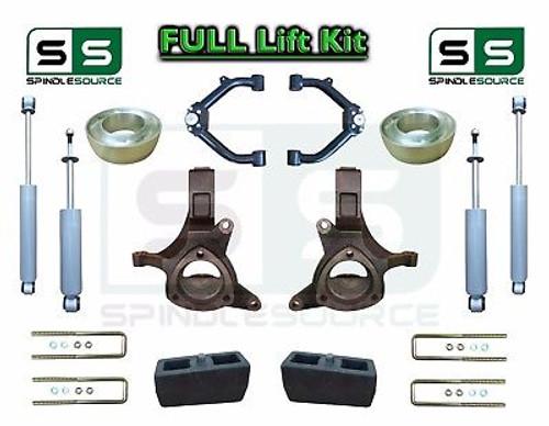 "1999 - 07 Chevrolet Silverado Sierra 1500 Spindle Lift Kit 6"" / 4"" SHOCKS + UCA"