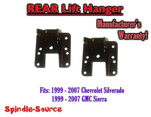 """1999 - 2006 Chevrolet Silverado / GMC Sierra 1500 1"""" or 2"""" REAR Lift Hangers"""
