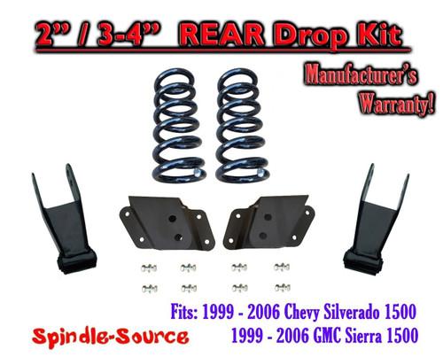 "1999 - 2007 Chevrolet Silverado / GMC Sierra 1500 V8 2"" / 4"" Lower Drop Kit 2/4"