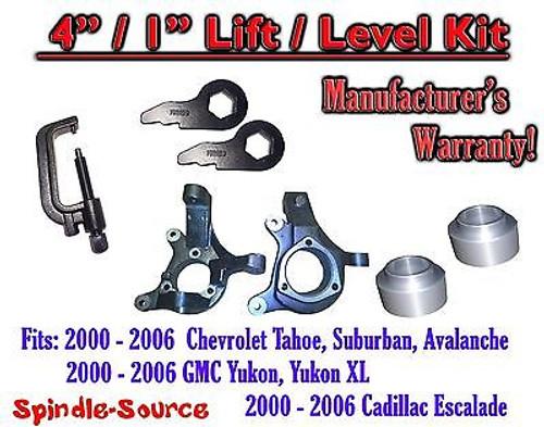 "2000 - 2006 Chevrolet GMC 1500 4"" / 1"" Lift Kit Spindles Spacer Keys Unload TOOL"