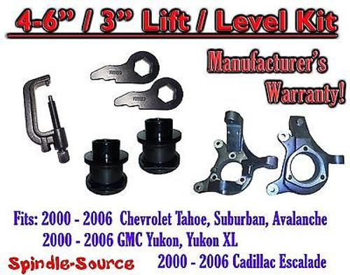 """2000 - 2006 Chevrolet GMC 1500 4""""-6"""" / 3"""" Lift Kit Spindles Spacer TOOL Keys"""