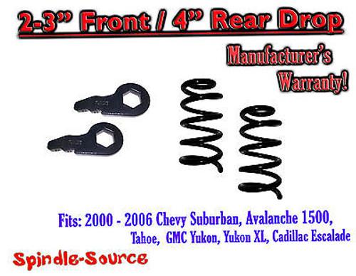 "2000 - 2006 Chevy GMC Tahoe Yukon Avalanche Escalade Suburban 2-3"" / 4"" Drop Kit"