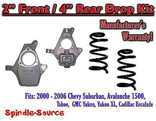 "2000 - 2006 Chevy GMC Tahoe Yukon Avalanche Escalade Suburban 2"" / 4"" Drop Kit"